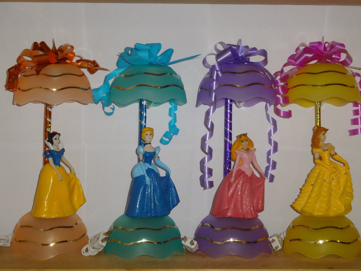 Princesas centros de mesa recuerdos lamparas cumplea os - Lamparas con goma eva ...