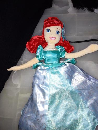 princesas de peluche 2 en 1 aurora y sirenita, ariel disney