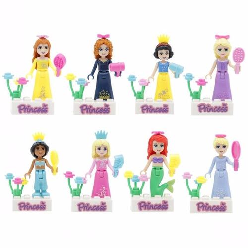 princesas disney compativel lego pacote com 8 figures action