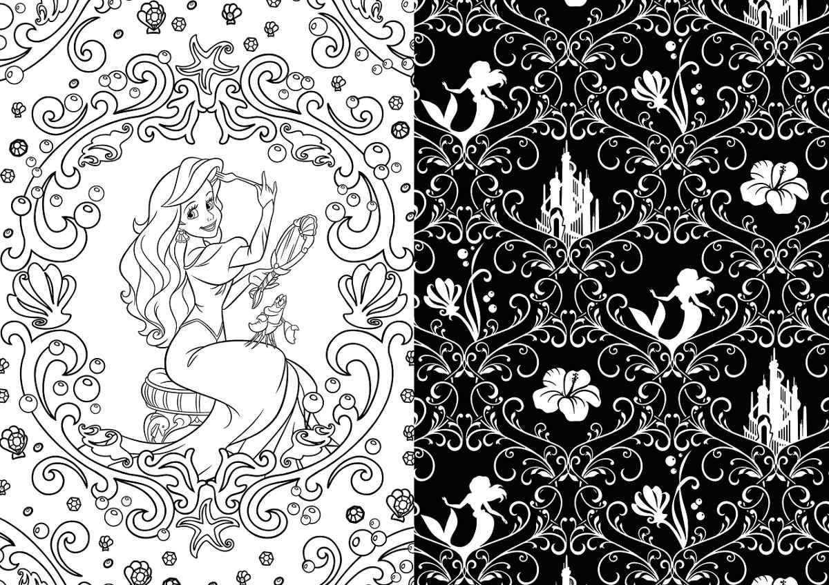 Único Princesa Disney Para Colorear Libros Friso - Ideas Para ...