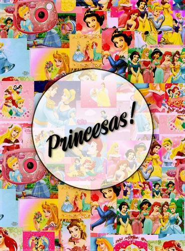 princesas! lámina decoupage autoadhesiva 30 x 42 cm