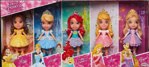 princesas muñecas mini toddler set de regalo