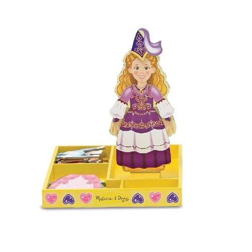 princess elise magnetic wooden dress up doll