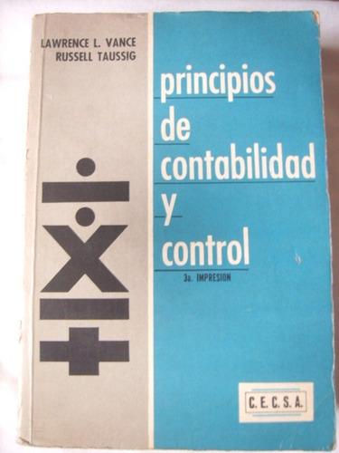 principios de contabilidad y control: l. vance y r. taussi