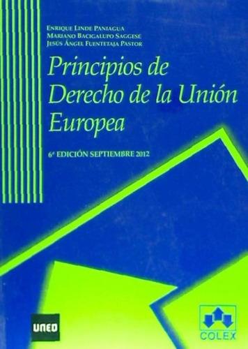 principios de derecho de la union europea(libro )