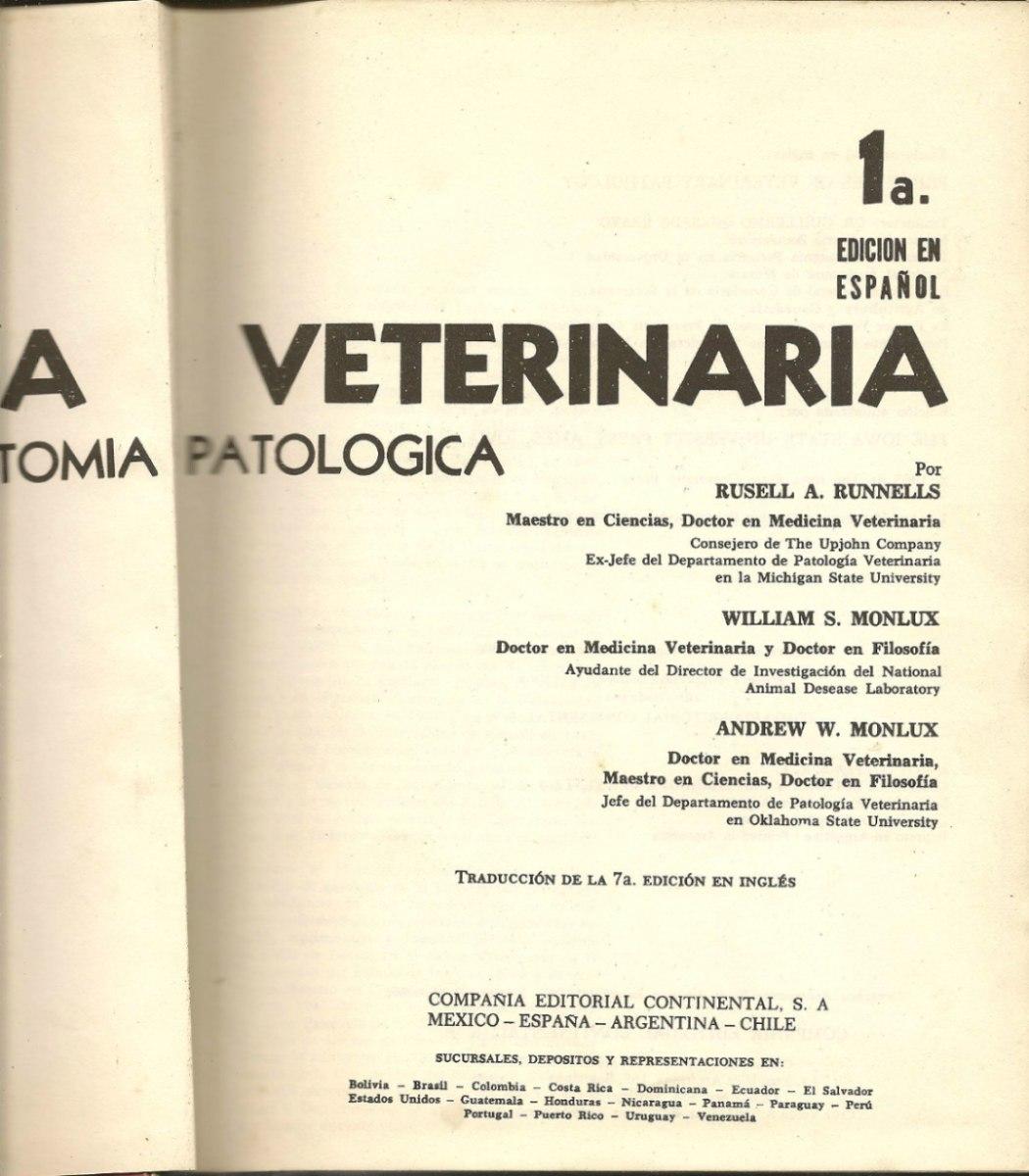 Principios De Patología Veterinaria, Anatomía Patológica - $ 1.999 ...