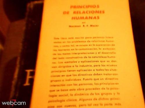 principios de  relaciones humanas de norman maier