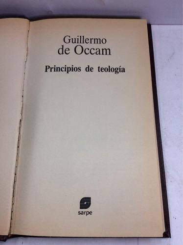 principios de teología, guillermo de occam