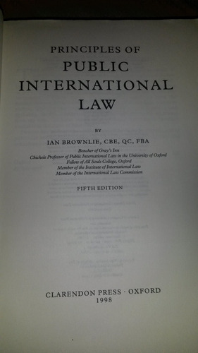 principles of public international lan brownlie