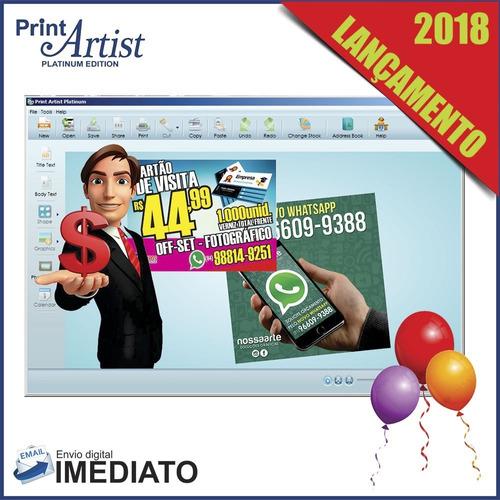 print artist platinum 25 - lançamento 2018 - envio rápido!