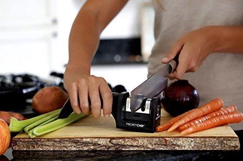 prioritychef afilador de cuchillos, 2 etapa sistema afilado