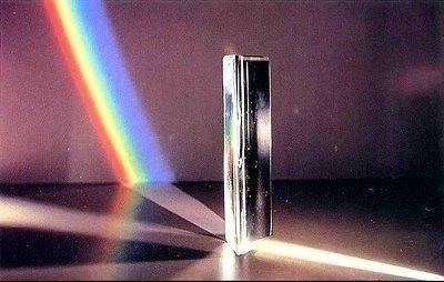 prisma óptico de vidro 150 mm 15 cm refração da luz estudos