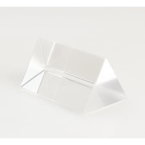prisma ótico óptico de vidro - triangular 50mm