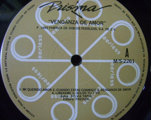 prisma / venganza de amor 1 disco lp vinilo