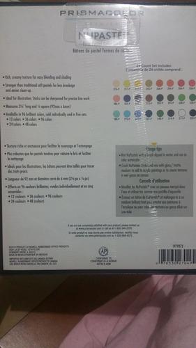 prismacolor premier nupastel juego de 24 barras pastel firme