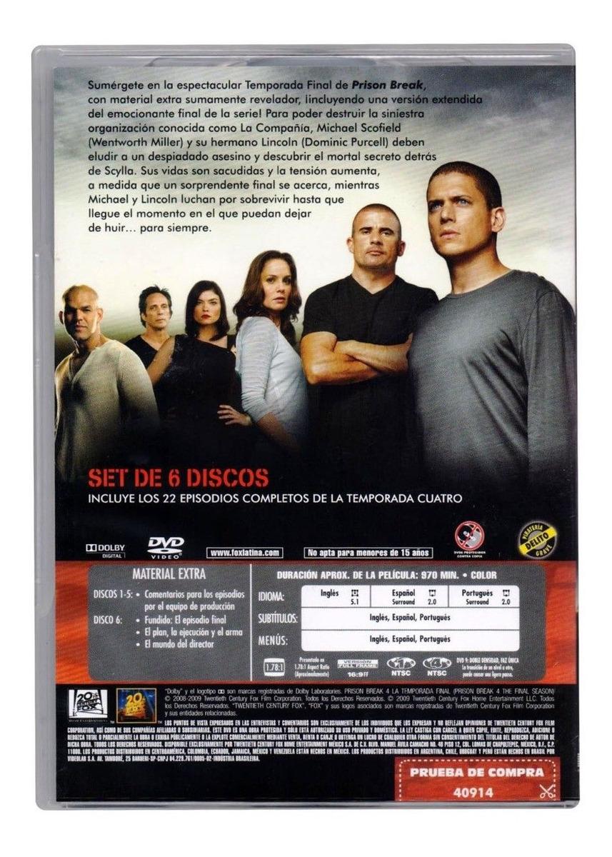 Prison Break Cuarta Temporada 4 Cuatro Dvd