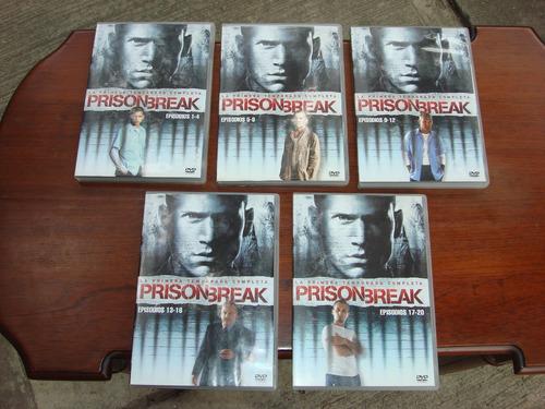 prison break temporada 1 (2005) 5 dvds, serie, bluray, vhs