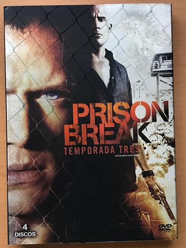 prison break, temporada 3 en dvd.
