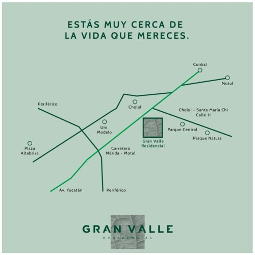 privada gran valle cholul, lotes residenciales.
