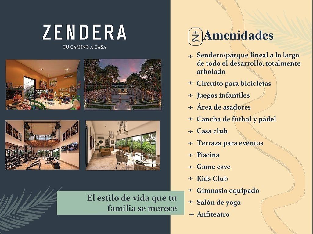 privada zendera con casa club  frente a  cholul lotes residenciales 50% vendido