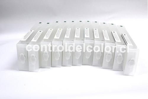 pro 7900 9900 cartuchos rellenables para plotter epson 700ml