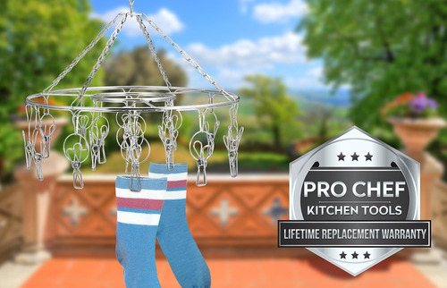 pro chef kitchen tools - tendedero para ropa, acero inoxi