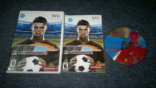 pro evolution soccer 2008 completo para nintendo wii