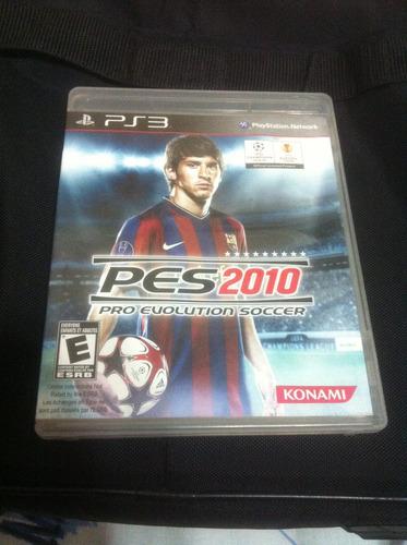 pro evolution soccer 2010 - ps3 - frete grátis