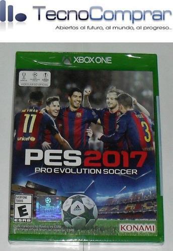 pro evolution soccer 2017 pes 2017 ( xbox one ) nuevo!!!