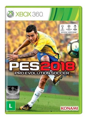 pro evolution soccer 2018 xbox 360 mídia física novo lacrado