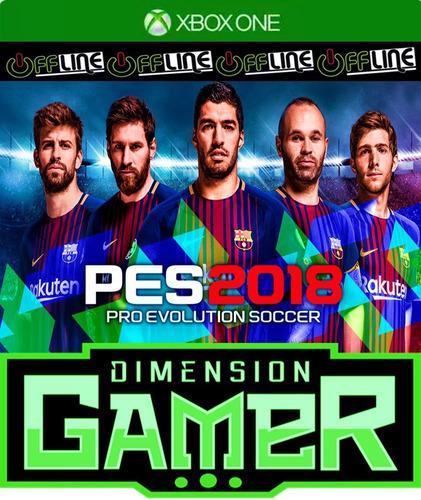 pro evolution soccer 2018 - xbox one - no codigo off-line
