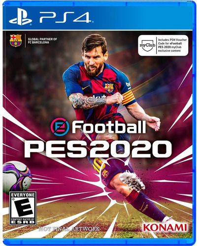 pro evolution soccer 2019 ps4 pes 20 + póster preventa