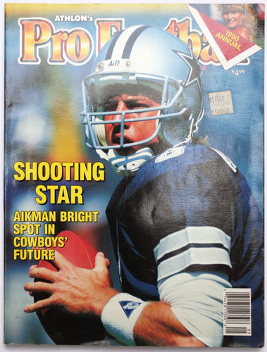 pro football athlons 1990 annual troy aikman nfl tlacua03