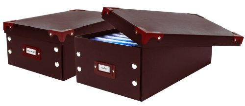 pro-mart dazz conjunto de cajas plegables de vídeo 2, brown