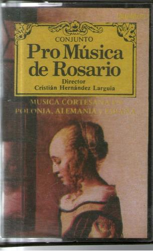pro musica de rosario musica cortesana en polonia alemania..