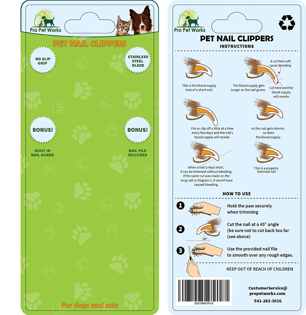 Pro Obras De Uñas Para Mascotas Perro Clippers Recortadores ...