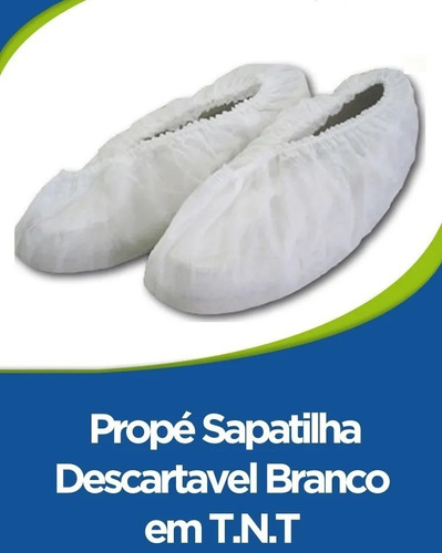 pro - pé sapatilha descartável branco em tnt 100 unidades
