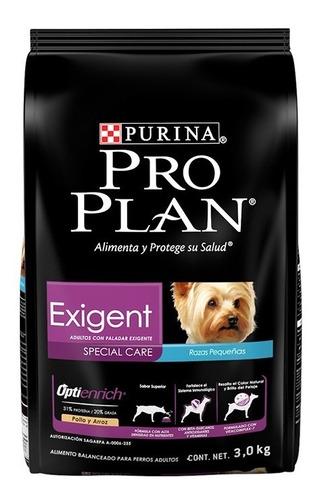 pro plan exigent small breed  x 3 kg