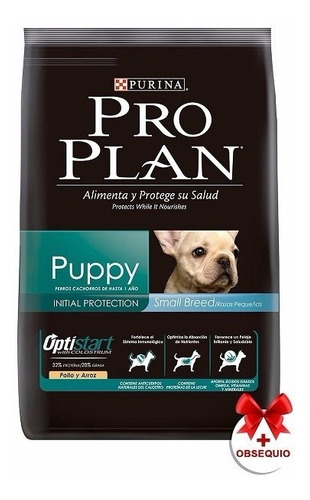 pro plan puppy small breed 3kg con salsa premium 100 grs