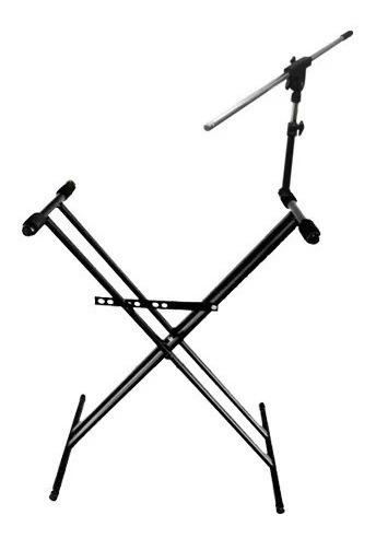 pro stands soporte mesa tijera teclado doble + pie microfono