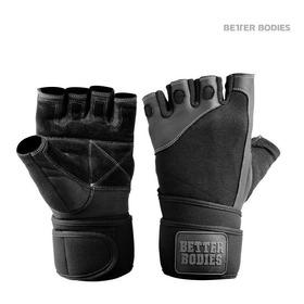 Pro Wrist Wrap Gloves Black T.m,guantes Pesas C/muñequera.