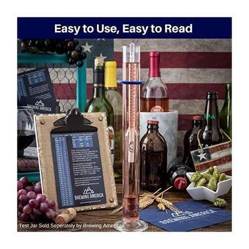 probador de alcohol con hidrómetro de gravedad específica -