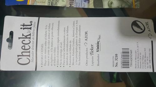 probador de billetes falsos