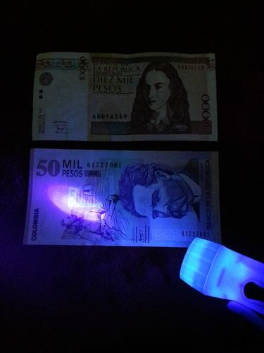 probador de billetes falsos con luz ultravioleta (llavero).