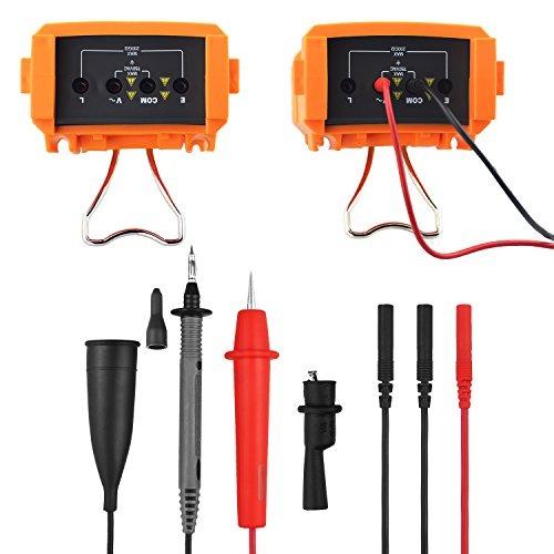 Probador Digital de Resistencia de Aislamiento Resistencia de Aislamiento de 200 G ohmios BTMETER BT-6688B con Prueba de Voltaje de 5000 V Indicaci/ón de Alto Voltaje