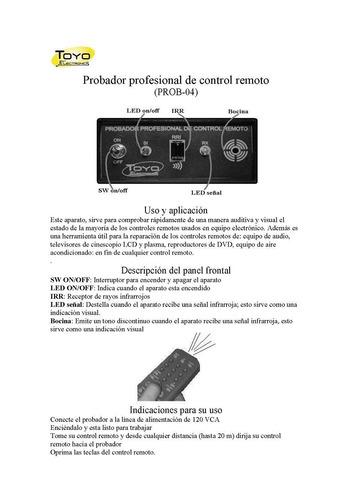 probador profesional de control remoto