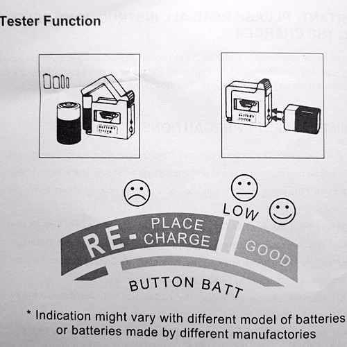 probador testeador universal de baterias aa/aaa/c/d/9v/1.5v
