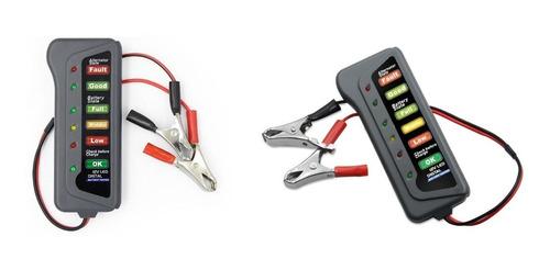 probador tester bateria alternador carro moto 12v 6 luz led