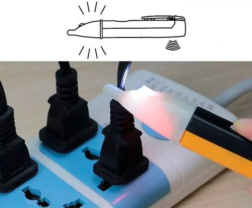 probador voltaje corriente sin contacto luz sonido