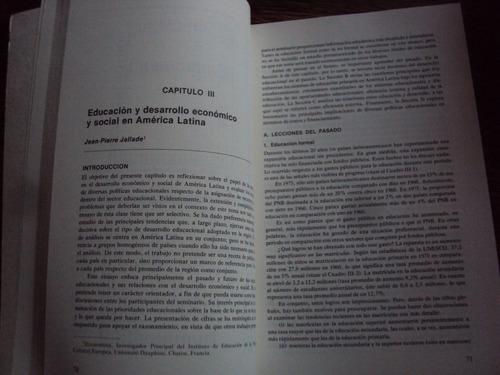 problema del financiamiento de l educacion en america latina